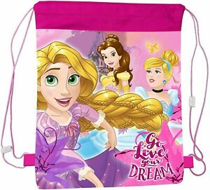Disney Princess Childrens Drawstring Bag School Sports PE Swimming Unisex