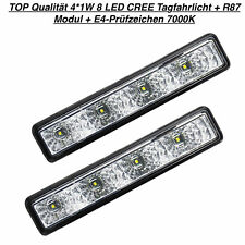 TOP Qualität 4*1W 8 LED CREE Tagfahrlicht + R87 Modul + E4-Prüfzeichen 7000K (10