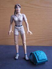 "Crocodile Hunter Terry Irwin 6"" Female Woman Steve Irwin Wife Talking Backpack"