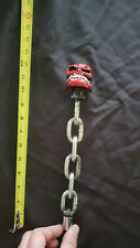 """Red Skull An Chain """"Custom Made"""" Beer Tap Handle"""