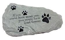 New! Pet Memorial Stone Rock Print Grave Marker Yard Outdoor Weatherproof Dog Ca