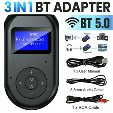 3 in1 Bluetooth 5.0 Transmitter Receiver Wireless Audio 3.5mm Adapter for Tv Pc