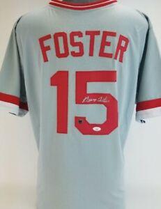 George Foster Signed Cincinnati Reds Custom Jersey (JSA COA) &(CSAC COA)