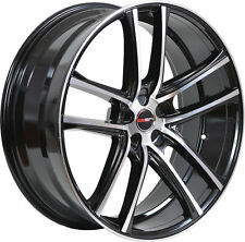 4 GWG Wheels 20 inch STAGGERED Black ZERO Rims fits FORD MUSTANG GT 2005 - 2018