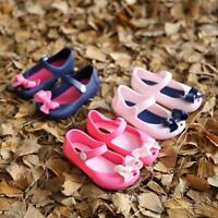 Cute Girls Baby Rain Shoes Detailed Jelly Bowknot Fish Mouth Sandals Boots