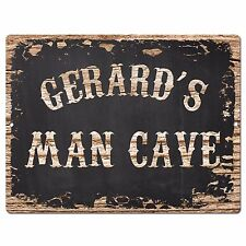 PP4110 GERARD'S MAN CAVE Plate Chic Sign Home Room Garage Decor Birthday Gift