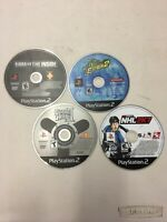 Lot of 4 Sony Playstation 2 PS2 Loose Disc Games