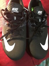 NIKE Zoom Rival S Track Shoes Spikes 806554-011 Black/White Men's US Size 8