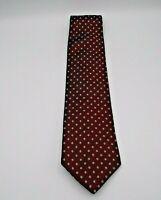"Nautica Men's Neck Tie Red w/Gray Polka Dot Pattern Silk 60"" x 3.75"""
