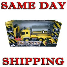 Light up 1:16 Scale 4 CH R/C Oil Truck Remote Control Car Construction Oil Tank