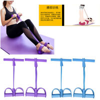 4 Tube Fitness Resistance Bands Elastic Sit-up Pull Up Rope Pedal Exerciser SP