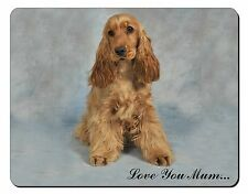 Red Cocker Spaniel 'Love You Mum' Computer Mouse Mat Christmas Gift , AD-SC6lymM