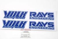 BLUE Rays Volk racing Wheel Stickers/decals x8,RWB/hellaflush/speed star/work