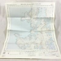 1963 Vintage Military Map of The Shetland Islands Scotland North Mainland