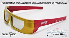 Marvel The Avengers 3D IRON-MAN Glasses Promotional RealD NIP Special Edition