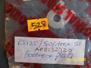 Aprilia RS125 Rear Footrest Plate Rs50/Area51 Ap8132720