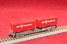 """RAR!!!Minitrix 15045-2 SBB Taschenwagen """"Frey-Transport""""/Top Zustand"""