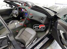 Instrument Panel Upper Dash Trim Pad Black Suede w/ Yellow STICH For C7 Corvette