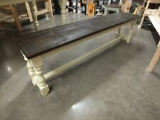 RECLAIMED PAINTED 6' LOW BENCH BESPOKE SIZES & COLOURS F&B STRING