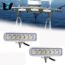 2PCS Spreader LED Deck/Marine Lights for Boat (Flood Light) 12V 18W White