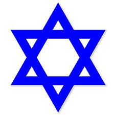 """Judaism Star of David Jewish bumper sticker 4"""" x 4"""""""
