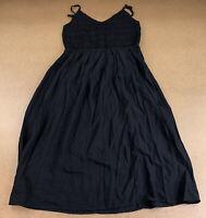 Wild Fable Women's Size Medium Black V Neck Sleeveless Smocked Midi Dress NWT