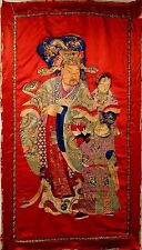 19th C.Qing [Ching] Dynasty Chinese Silk Embroidered Emperor Panel- LARGE
