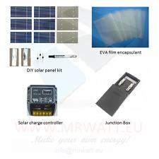 """KIT solare fotovoltaico 70W da 36 celle solari poli 3""""X6"""" (76X156 mm) di classe"""