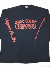 Vtg West Coast Choppers Jesse Who Mens 3XL Faded Navy Long Sleeve T Shirt (F3)