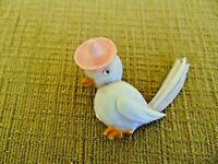 Vintage 1930's Bird Pin Brooch Celluloid Hat lavender pink