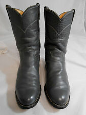 Justin 3025 Gray Western Cowboy Boots Mens Size 7 D   USA