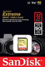 SDSDXVE-032G-GNCIN SanDisk 32GB Extreme SDHC UHS-1 - SDSDXVE-032G-GNCIN  (Storag