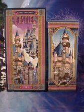 Disney Ceramic Vase Cinderella Castle & Sleeping Beauty Castle NIB