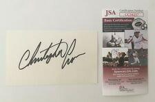 Christopher Cross Signed Autographed 3x5 Card JSA Certified