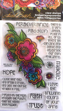 STAMPENDOUS LAUREL BURCH FLORAL REFLECTIONS Flower Clear Stamps Cardmaking Craft