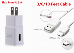 Type C Cable + Adaptive Fast Charging Wall Adapter For Amazon Fire HD 9th 10th