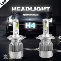 2X H4 9003 8000LM 72W HB2 6000K LED Headlight Kit Conversion Hi/ Lo Bulbs KFP