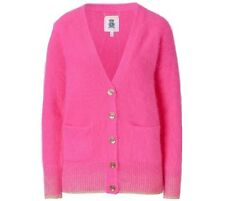 $299 NEW Juicy Couture Pink 100% Real Angora Wool Rabbit Fur Cardigan Sweater