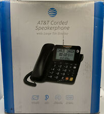 AT&T CL2940 Corded Speakerphone with Large Display & Extra Large Buttons Black