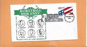 BASKETBALL 100th ANNIVERSARY JAN 20,1991 SAN JOSE CA ^