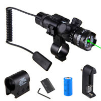 Tactical Hunting Green Red Laser Sight Dot Scope w/ Mount Light For Rifle Gun