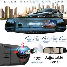 HD 1080P 2.8 inch LCD Car Mirror Camera HD Vehicle DVR Cam Recorder Dashboard