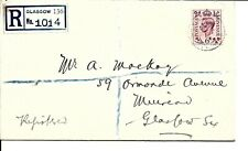 GREAT BRITAIN (A55) 1937 6d FIRST DAY COVER ADDRESSED TO GLASGOW CAT £60.00