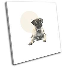 Pug Dog Modern Abstract Animals SINGLE TOILE murale ART Photo Print