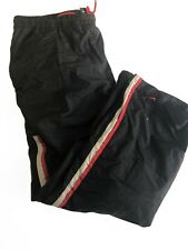 Nike Mens XL Windbreaker Track Sweat Pants Baggy VTG 90s Black Nylon Warm Ups