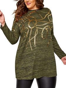 Multi Print Shirt Longshirt Shirt Tunika Top Yours khaki Gr. 58 60.62 64 Neu