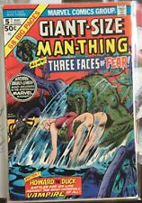 Giant Size Man Thing #5 W/ Howard the Duck verses a Vampire cow! Seriously!!