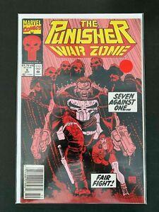 PUNISHER WAR ZONE  #8  MARVEL COMICS 1992 VF+ NEWSSTAND
