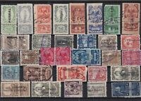 Mexico mixed early revenue Stamps Ref 15927