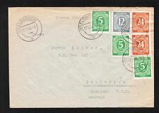 Germany 1946 Eldagsen 3x5p 1x12p 2x24p Correct Air Rate to A Kramer MD Cover Z52